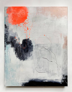 Shortcut To Nowhere - Unframed - abstract painting by Paige Ring