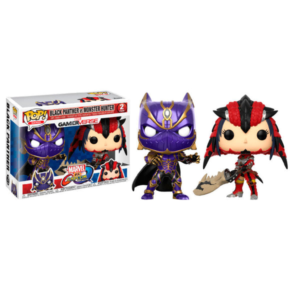 Set figuras POP Black Panther vs Monster Hunter