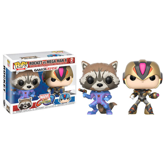 Set 2 figuras POP Capcom vs Marvel Rocket vs MegaMan X Exclusive