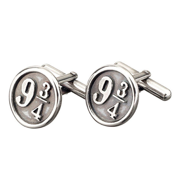 Gemelos Platform 9 3/4 Harry Potter plata