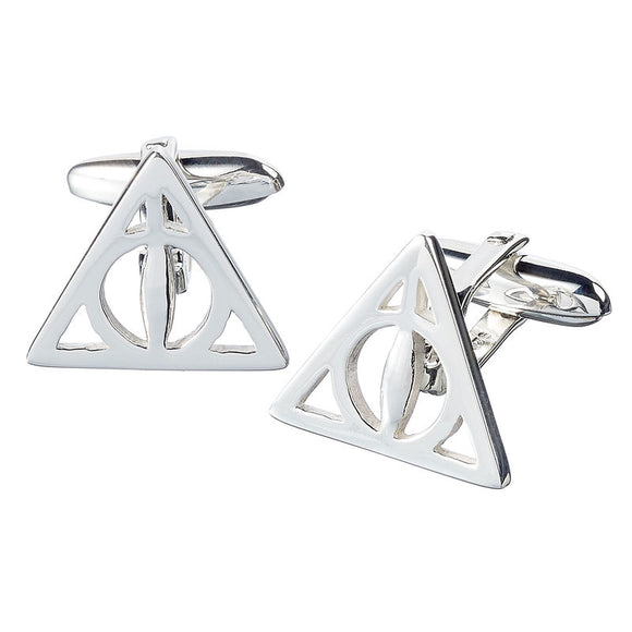 Gemelos Deathly Hallows Harry Potter plata