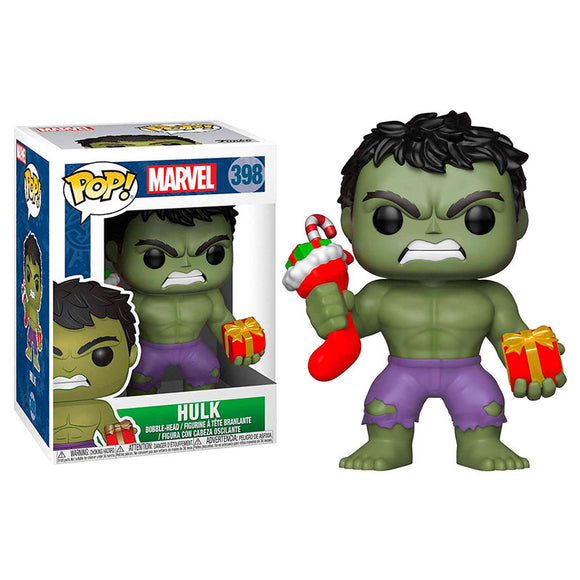 Figura POP Marvel Holiday Hulk with Stocking & Plush