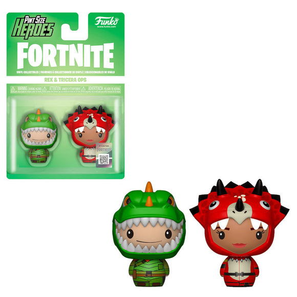 Pack 2 figuras Pint Size Fortnite Rex & Tricera Ops