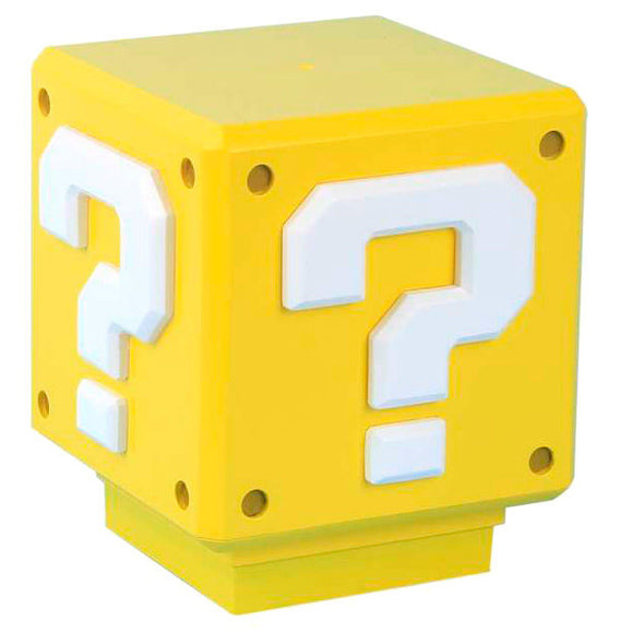 Lampara sonido Mini Question Block Super Mario Bros Nintendo