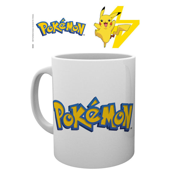 Taza logo Pokemon and Pikachu