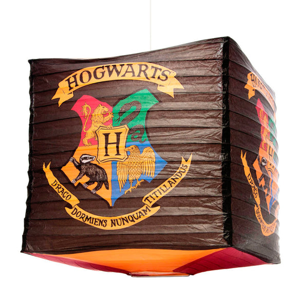 Lampara papel Hogwarts Harry Potter Cube Paper Shade