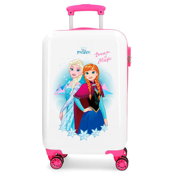 Maleta trolley ABS Dream of Magic Frozen Disney blanca 4r 55cm