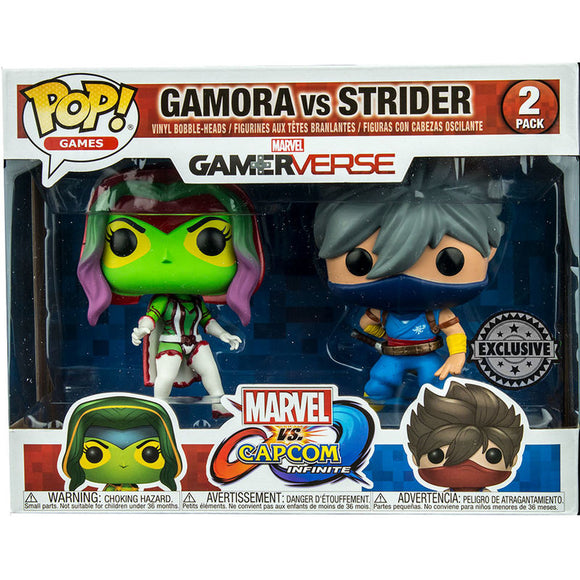 Set 2 figuras POP Capcom vs Marvel Gamora vs Strider Exclusive