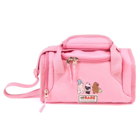 Bolsa portameriendas We Bare Bears rosa