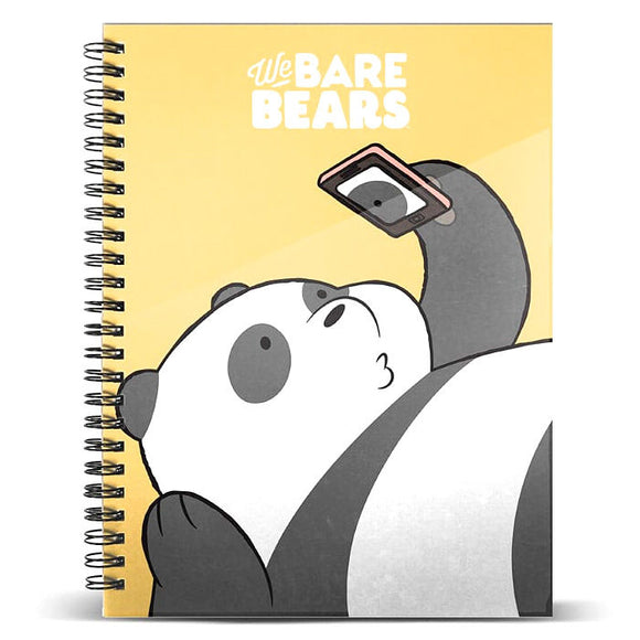 Cuaderno A4 Oso Panda We Bare Bears