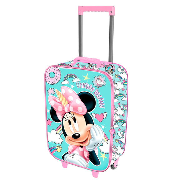 Maleta trolley 3D Minnie Unicorn Disney 52cm