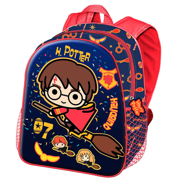 Mochila 3D Quidditch Harry Potter 31cm