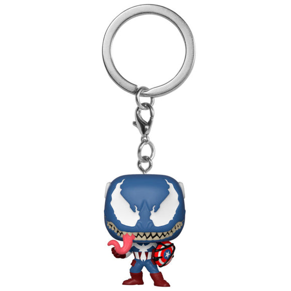 Llavero Pocket POP Marvel Venom Captain America