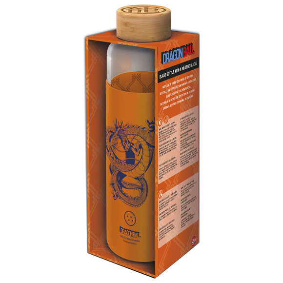 Botella cristal Dragon Ball Z funda silicona 585ml