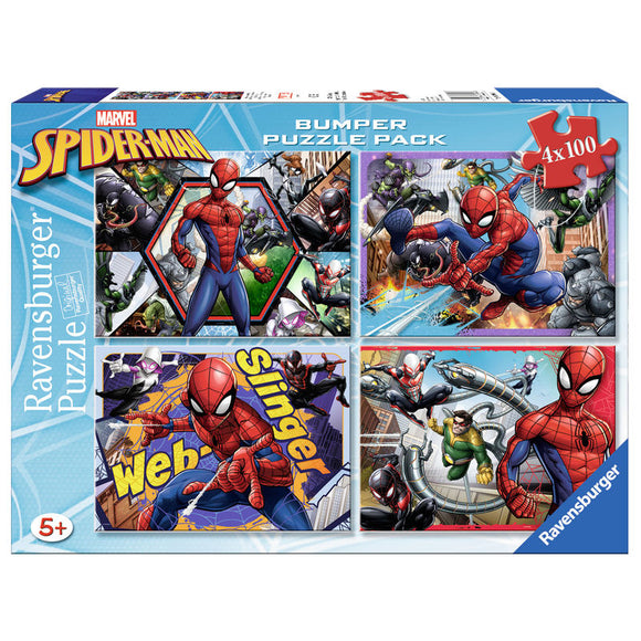 Puzzle Spiderman Marvel 4x100pz