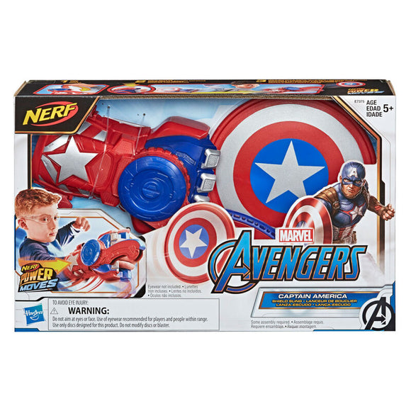 Lanzador Power Moves Captain America Marvel Nerf