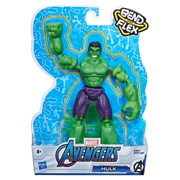 Figura Bend and Flex Hulk Vengadores Avengers Marvel 15cm