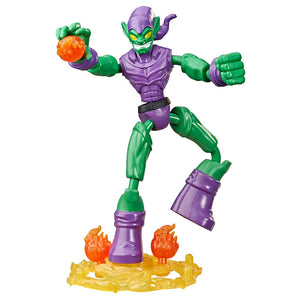 Figura Bend and Flex Green Goblin Spiderman Marvel 15cm