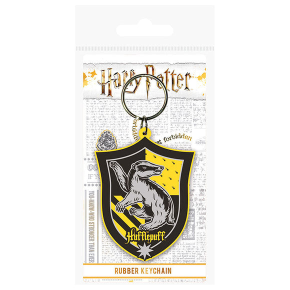 Llavero rubber Hufflepuff Harry Potter