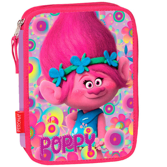 Plumier Trolls Poppy Flowers doble