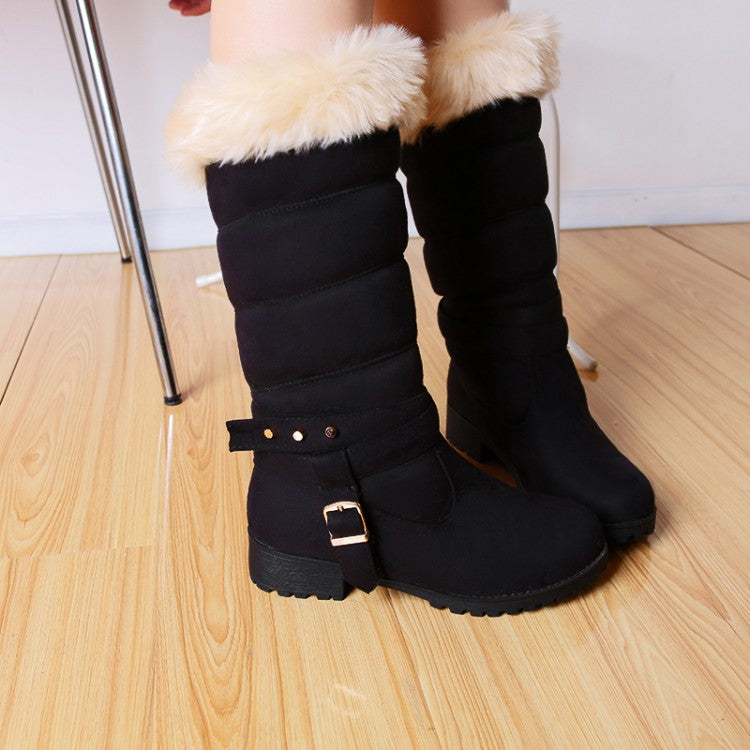 Frosted Round Toe Snow Boots