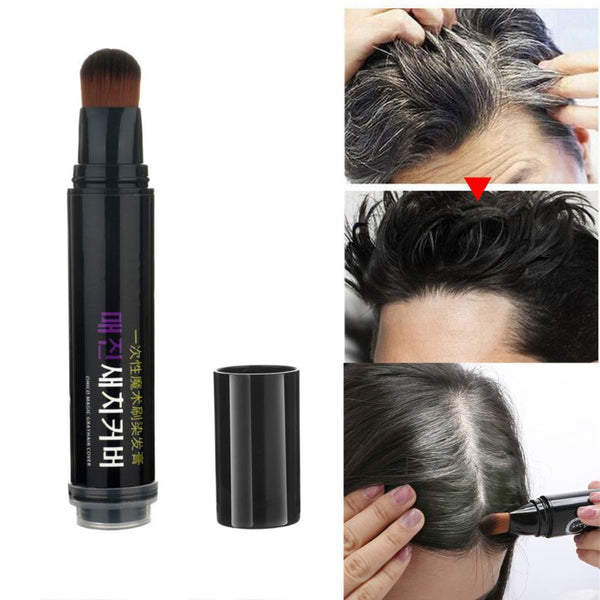 One-Time Natural Herb Hair dye Instant Gray Root Coverage Hair Color Modify Cream Stick Temporary Cover Up White Hair Colour Dye
