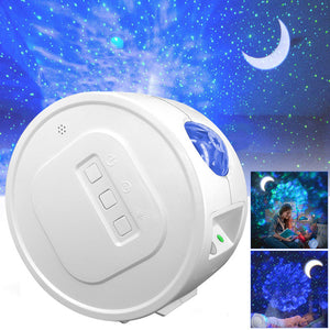 Starry Sky Projector Star Night Light Projection USB 6Color Ocean Waving Light 360° Rotation Romantic Fairy Light for Kids Gift