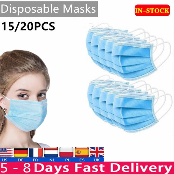 Disposable face mask 3 layer carbon filter