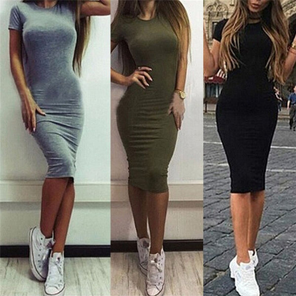 Summer dresses for women with a tight knee-length