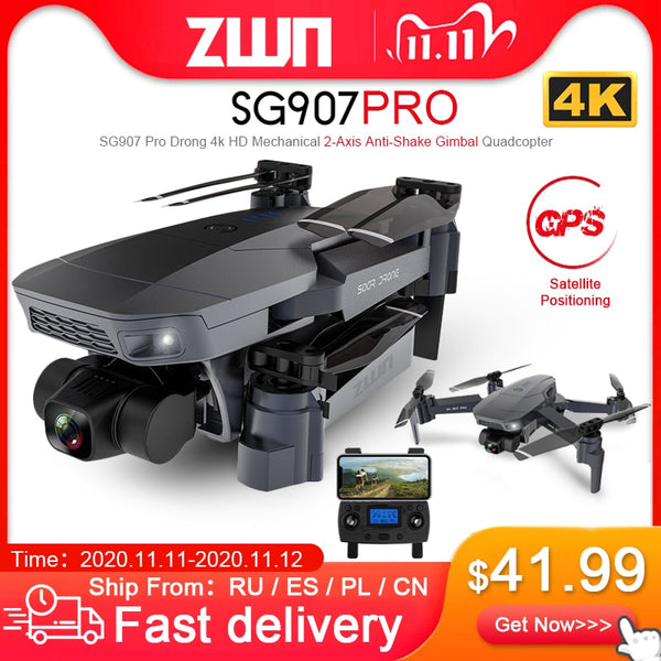 ZWN SG907 PRO / SG901 GPS Drone with 2 Axis 4K HD 5G Camera