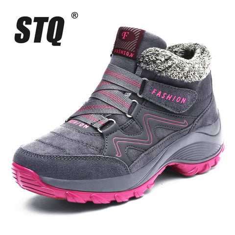 STQ women snow boots for warm women
