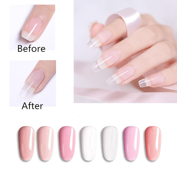 Poly Gel Nail Kit with 7 Colors Nail Lamp Tool Kit