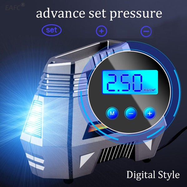 Car Tire Pump with Digital Pressure Gauge (150 PSI 12V DC)
