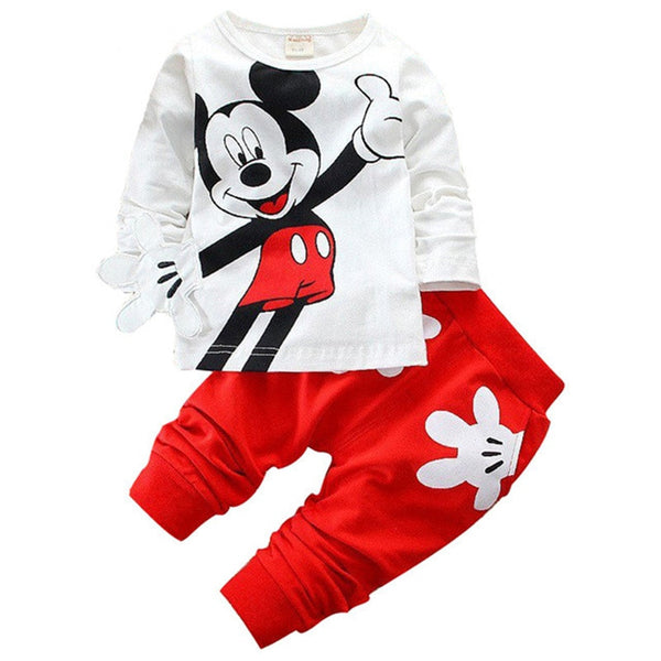 Boys and girls clothing set, kids cotton tracksuit