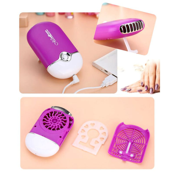 Eyelash Extension Tool Mini USB Fan Air Conditioning Blower Glue Makeup Black Rose Grafted Eyelashes Dedicated Dryer
