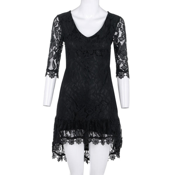 Lace dresses for women black white