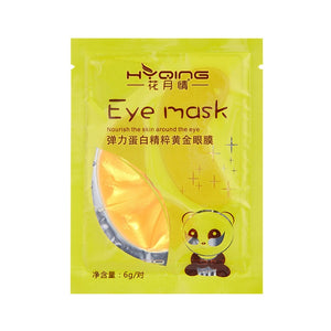 1pair Gold Crystal Collagen Eye Mask Gel Anti Wrinkle Anti Puffiness Moisturizing Eye Patches Remove Dark Circles Eye Bags TSLM1