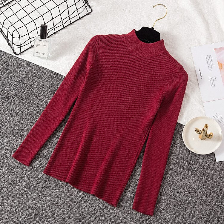 Knitted Pullover Tops Pullovers Long Sleeve Shirt Short Slim Girls Sweater