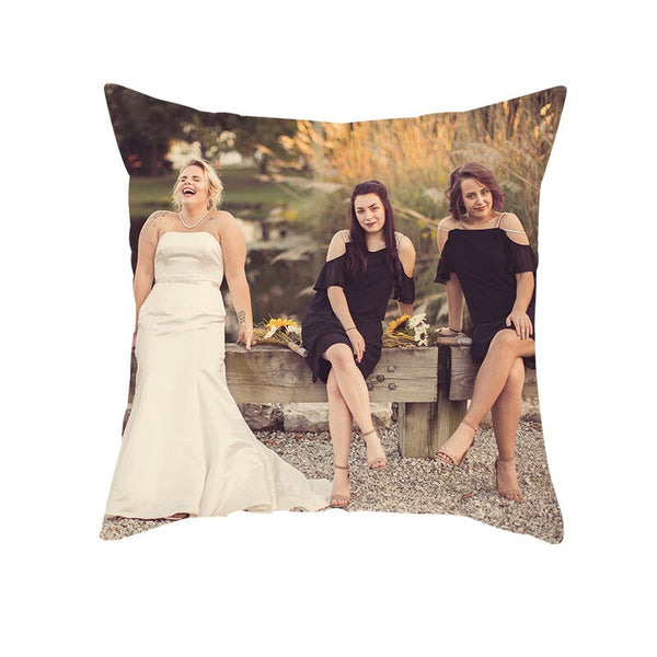 Fuwatacchi optional Customize Pillow Cover Life Photo Printed Cushion Cover Sofa Throw Pillowcase for Home Bed Decorative Pillow