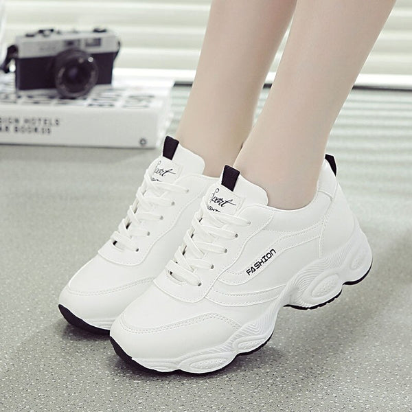 Women's chunky lace-up sneakers