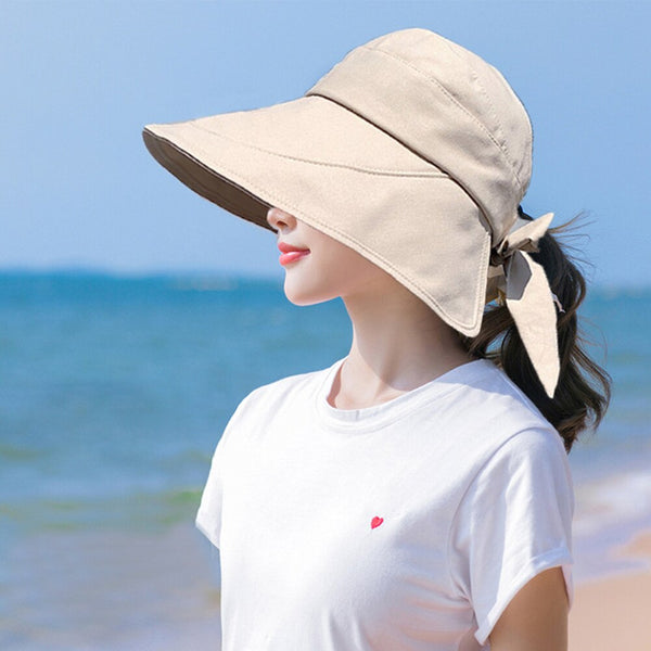 Foldable Ponytail UV Sun Hat