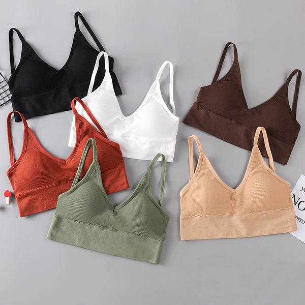 Women Tank Crop Top Bra Underwear