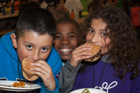 Kids eat the better burger at school