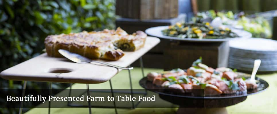 Beautifully presented farm to table food