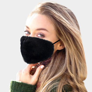 FAUX FUR FASHION MASK