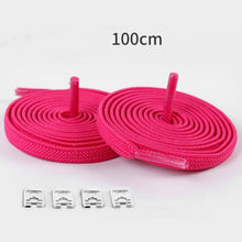 Load image into Gallery viewer, 1 Pair 3.28FT No Tie Lazy ShoeLaces Elastic Rubber Shoes Lace Sneaker Children Safe