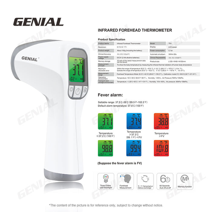 Genial Non-Contact Infrared Thermometer - Health Canada Approved