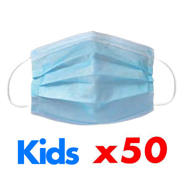50 Kids Disposable Masks set