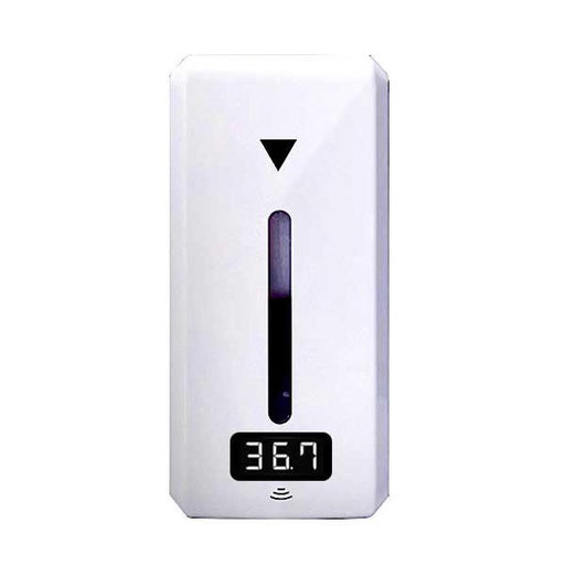 Wall Mounted Automatic Hand Sanitizer Dispenser With Infrared Thermometer