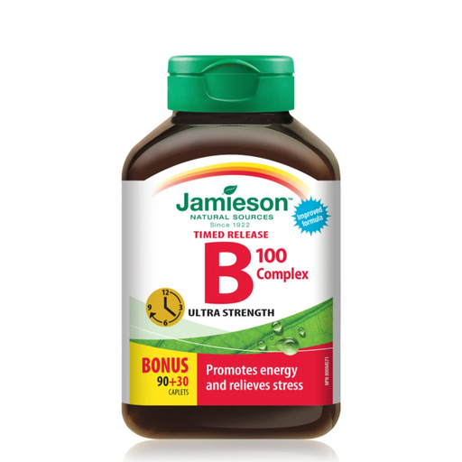 Jamieson Vitamin B Complex 120 Tablets - Timed Release | Medic Supplies Canada